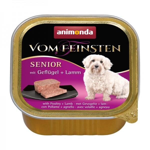 animonda Vom Feinsten Senior 150g Schale Dog Geflügel und Lamm