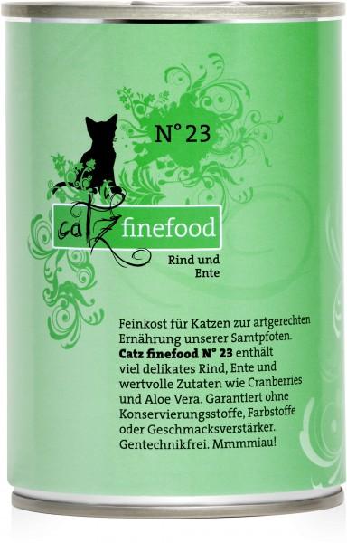 Catz FineFood Classic No.23 Rind & Ente Nassfutter 400 g