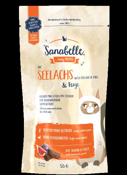 Sanabelle Seelachs & Feige Cat Sticks 55g