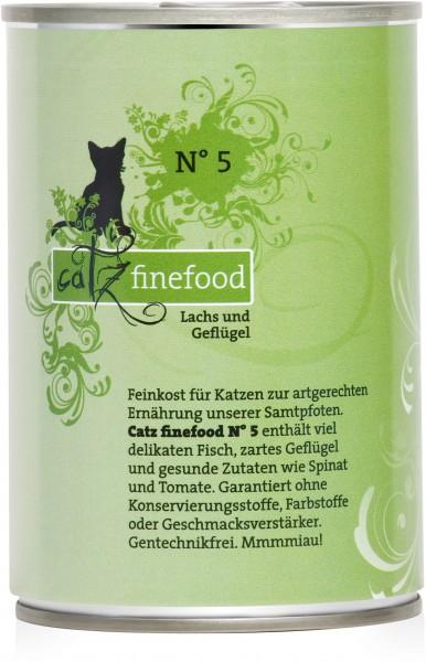 Catz FineFood Classic No.5 Lachs & Geflügel Nassfutter 400 g