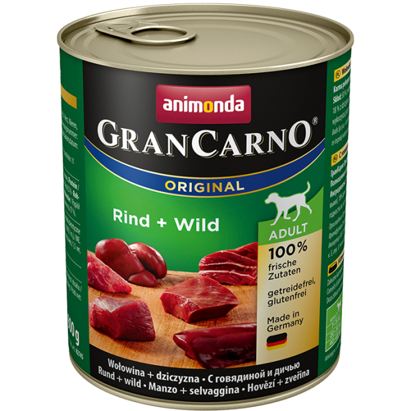 GranCarno Adult 800g Rind&Wild