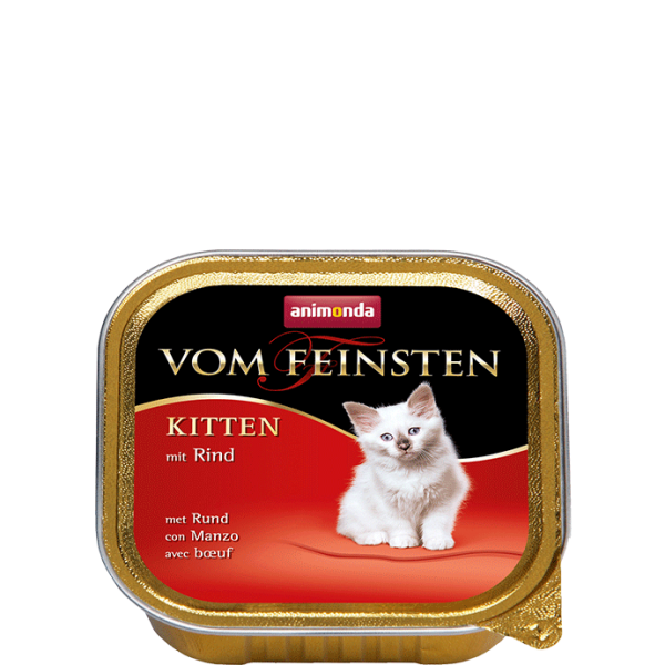 Cat Vom Feinsten Kitten 100g Rind