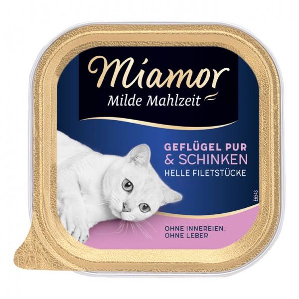 Miamor Milde Mahlzeit 100g Geflügel &Schinken