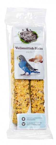 LandPartie 100g Sticks mit Ei für Wellensittiche