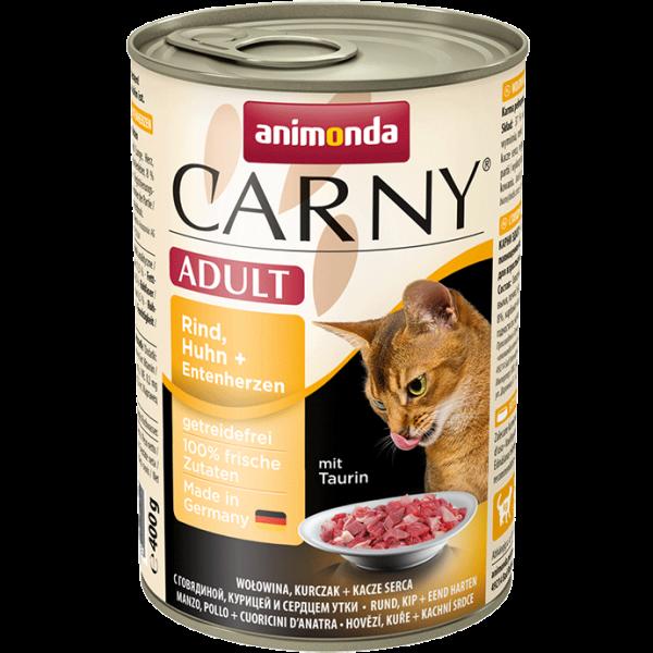 Carny Adult 400g Rind Huhn&Entenherzen