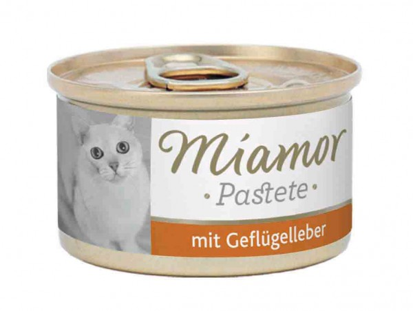 Miamor zarte Fleischpastete 85g Geflügel&Leber