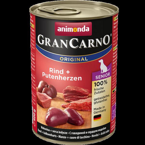 GranCarno Senior 400g Rind&Putenherzen