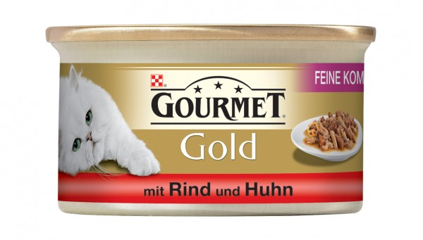 GOURMET Gold Feine Komposition - mit Rind und Huhn 85g