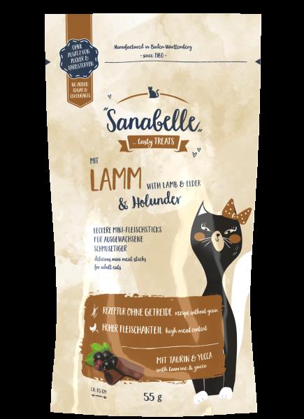 Sanabelle Lamm & Holunder Cat Sticks 55g