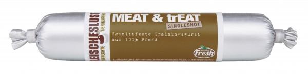 Fleischeslust Singleshot 80g Meat&Treat Pferd