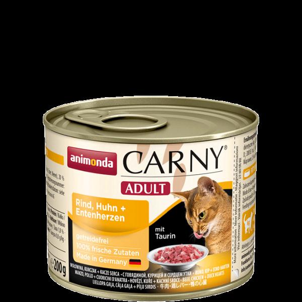 Carny Adult 200g Rind Huhn&Entenherzen
