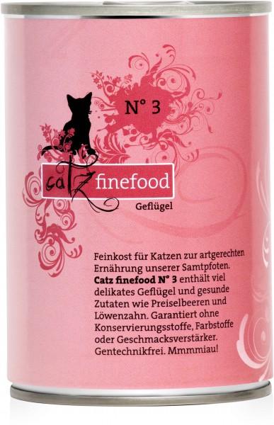 Catz FineFood Classic No.3 Geflügel Nassfutter 400 g