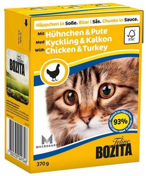 Bozita Feline Häppchen in Soße, Hühnchen & Pute 370g