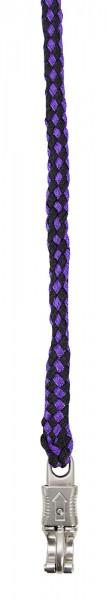 Führstrick schwarz-lila