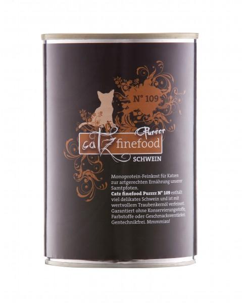 Catz FineFood Purrrr No.109 Schwein Nassfutter 400 g