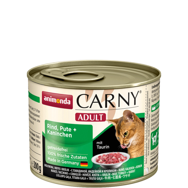 Carny Adult 200g Rind Pute&Kaninchen
