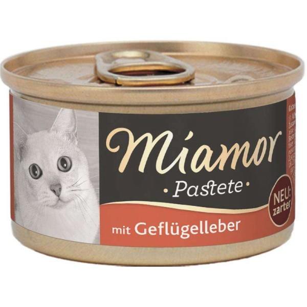 Miamor zarte Fleischpastete mit Geflügelleber 85g