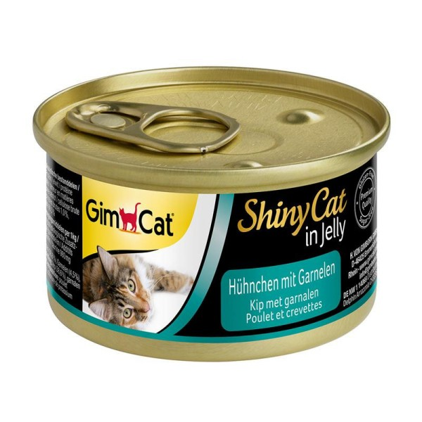 GimCat ShinyCat Hühnchen mit Garnelen 70 g