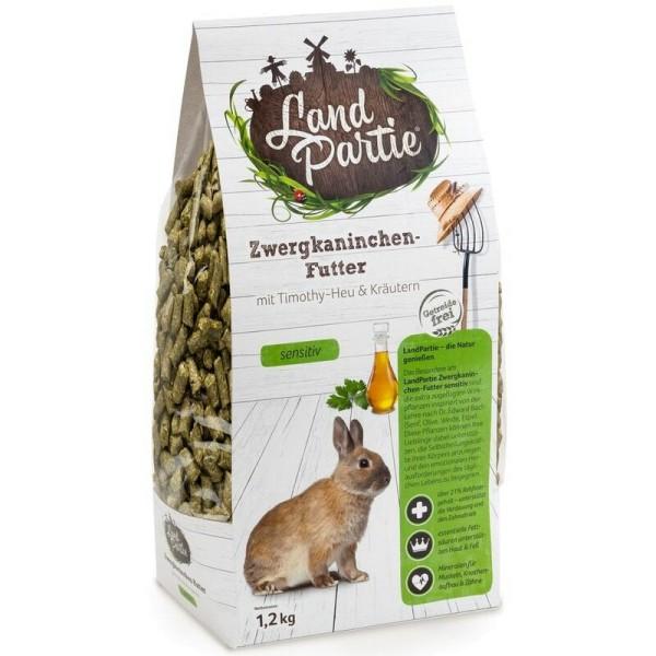 LandPartie Zwergkaninchen-Futter sensitiv, Monopellets 1,2kg