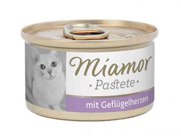 Miamor zarte Fleischpastete 85g Geflügelherzen