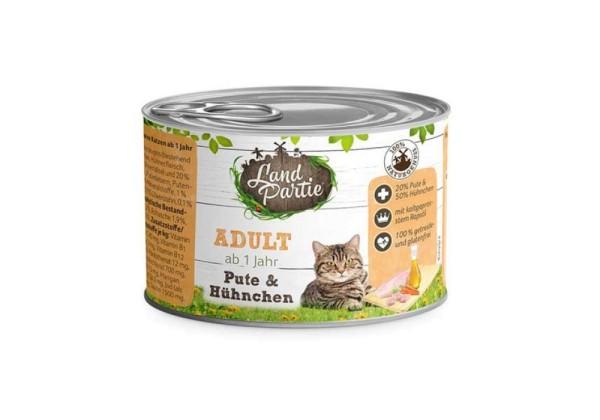 LandPartie Katze Adult Pute und Hühnchen Dose 200g