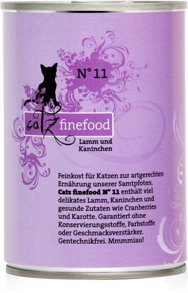 Catz FineFood Classic No.11 Lamm & Kaninchen Nassfutter 400 g